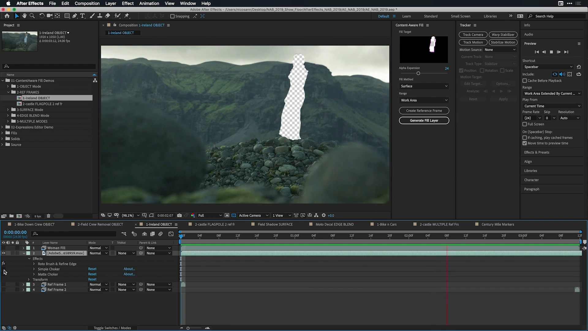 El nuevo After Effects te permite borrar objetos igual que Photoshop, pero en video