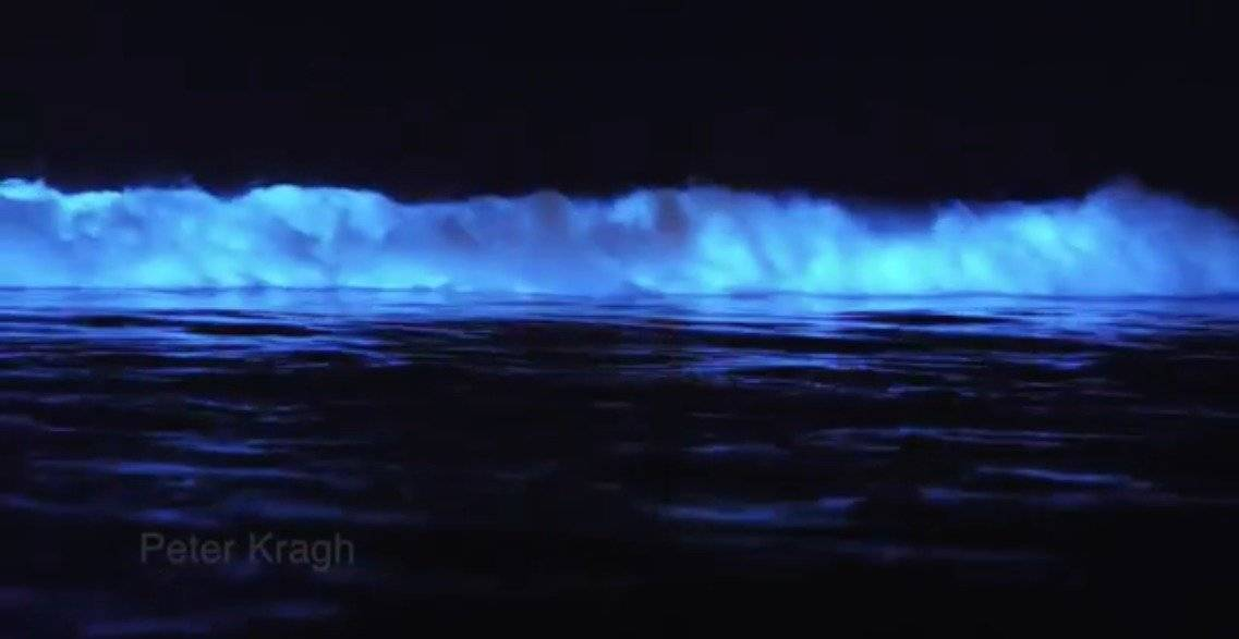 Destellos de luz en el mar