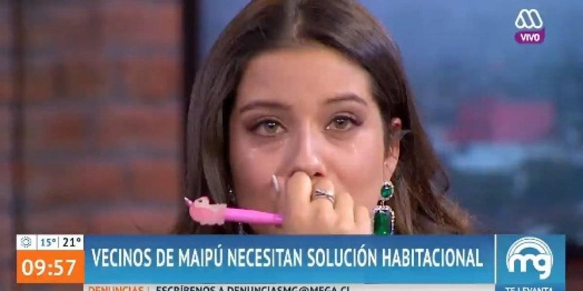 María José Quintanilla rompió en llanto tras recordar que su familia vivía en un campamento