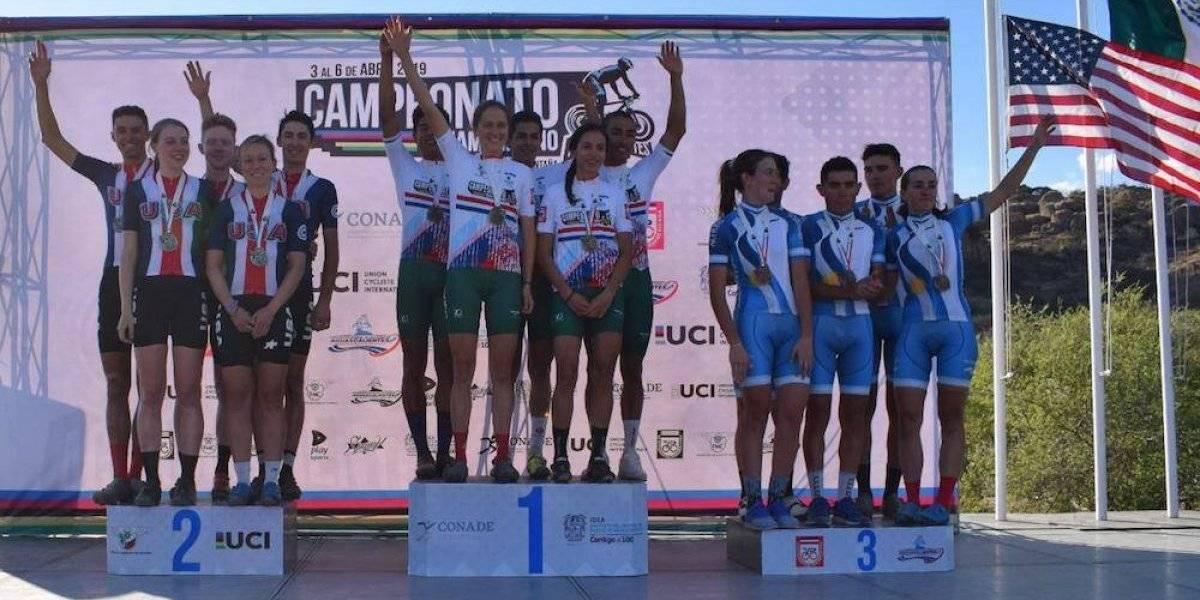 México gana oro en relevos de Campeonato Panamericano de ciclismo de montaña