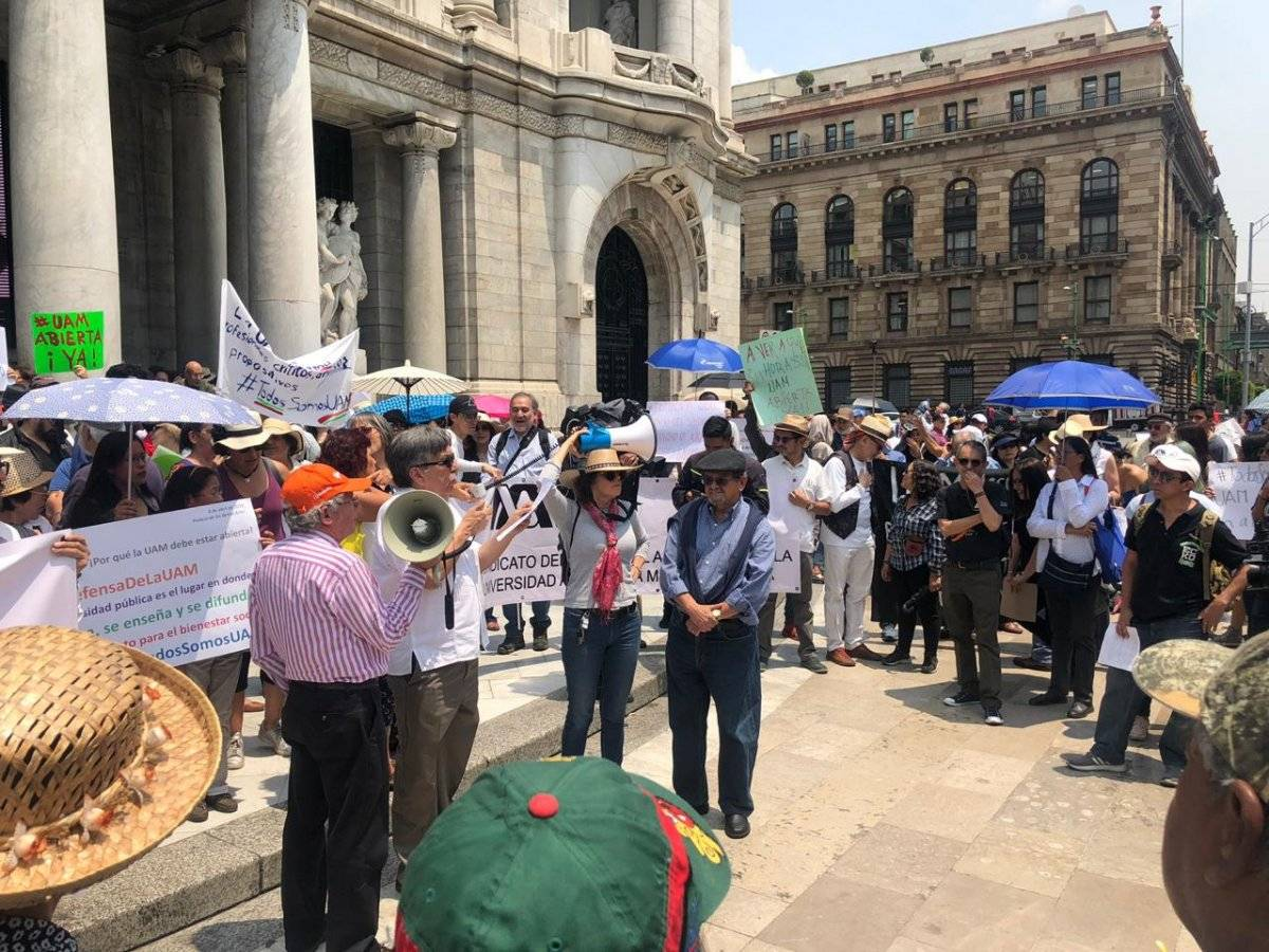 La huelga de la UAM lleva 63 días Foto: Eréndira Mejía