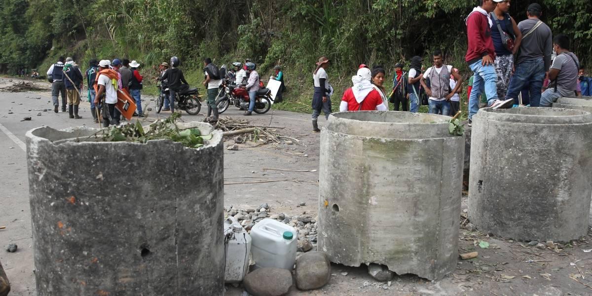 Juzgado ordenó a indígenas del Cauca desbloquear vía alterna a la Panamericana