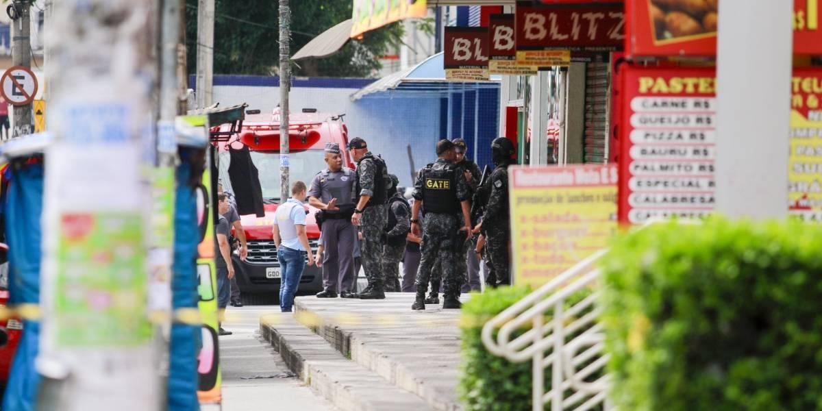 Banco em Diadema sofre tentativa de assalto e criminosos amarram explosivo em refém