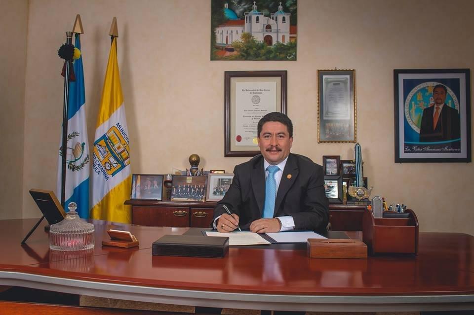 Víctor Alvarizaes, alcalde de Santa Catarina Pinula. Foto: Víctor Alvarizaes