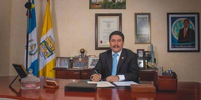 Víctor Alvarizaes, alcalde de Santa Catarina Pinula.