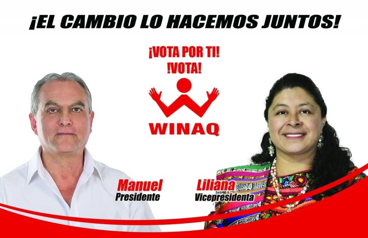 Binomio presidencial Winaq