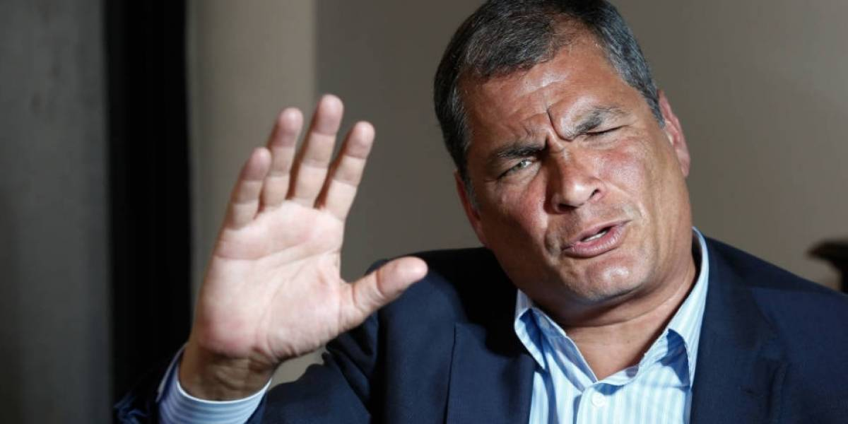 """Rafael Correa admite chats con Alexis Mera: """"Sí y cuál es el problema, dónde está el delito"""""""