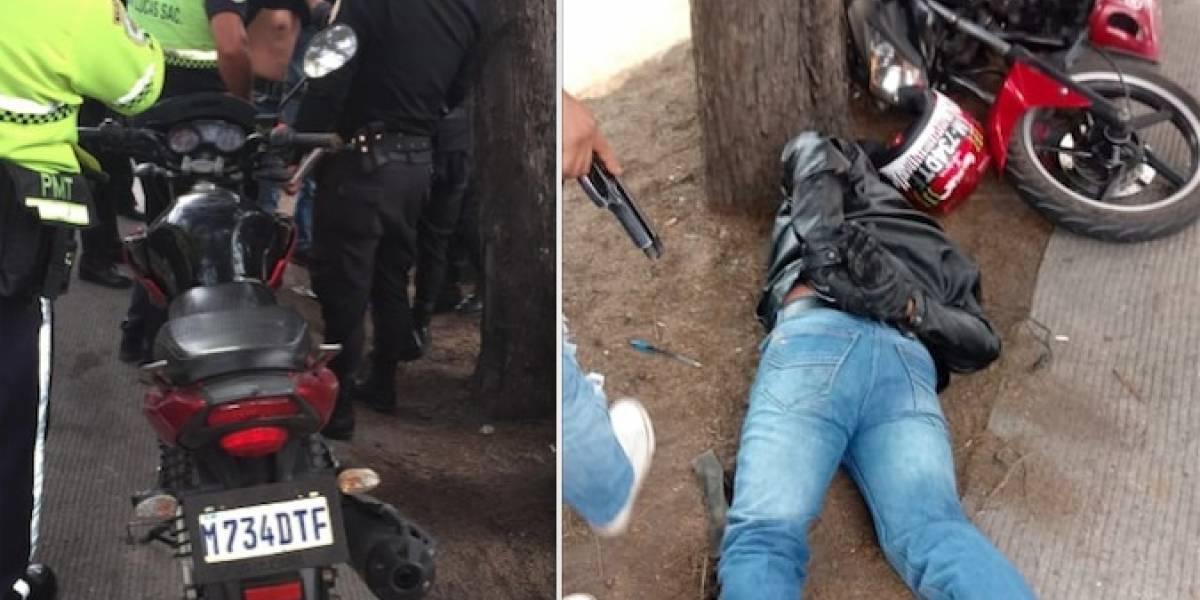 Ataque armado en San Lucas deja dos investigadores heridos y presunto extorsionista se da a la fuga