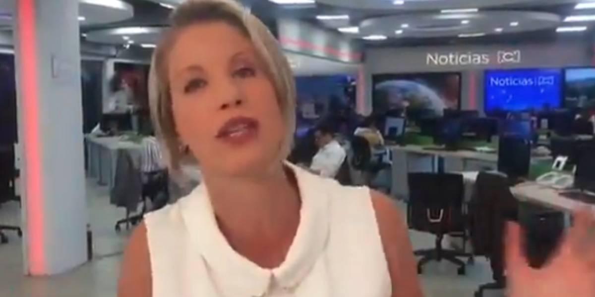 Claudia Gurisatti le dio la bienvenida al presidente del Canal RCN y llovieron comentarios