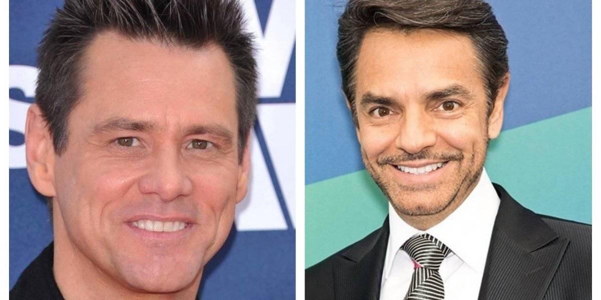 """Jim Carrey sorprende al """"lucir irreconocible"""" junto a Eugenio Derbez"""