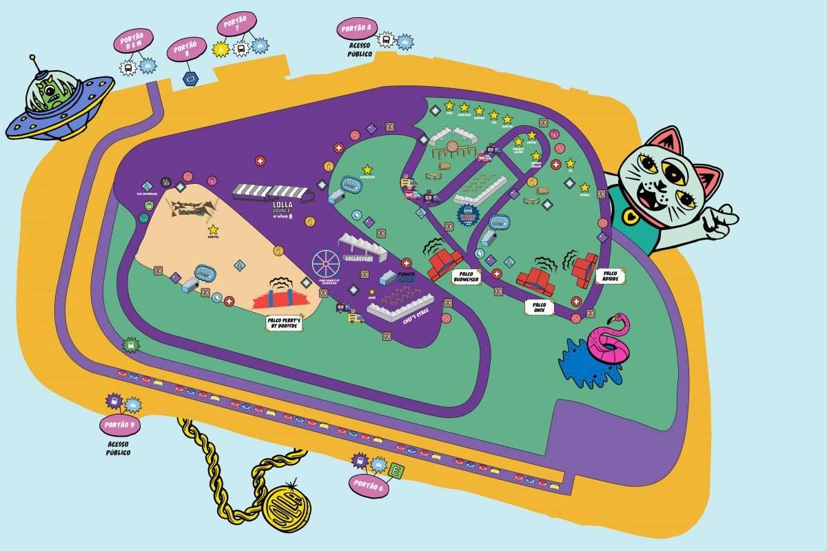 mapa lollapalooza