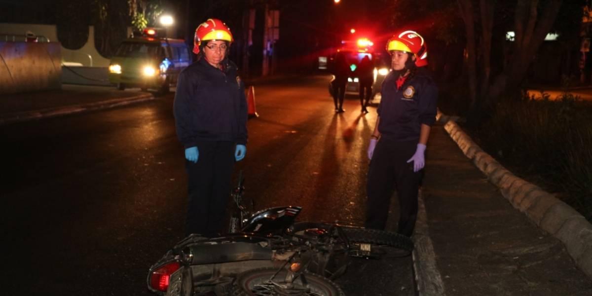 Motorista muere por accidente de tránsito en zona 4 de Mixco