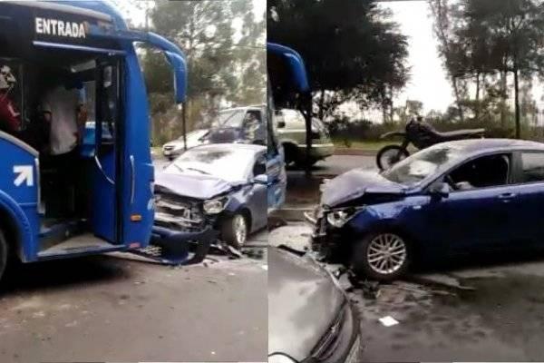 Quito: Se reporta accidente de tránsito en la Av. Panamericana