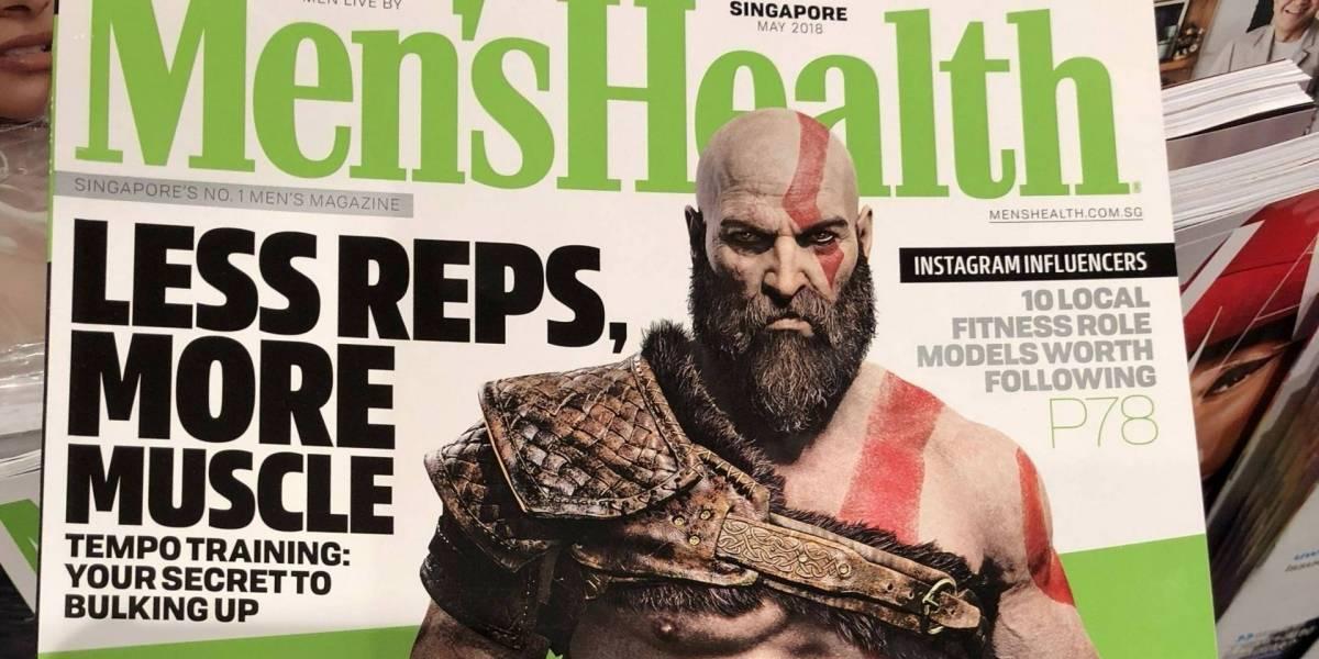 Kratos de God of War es la portada de la revista Men's Health