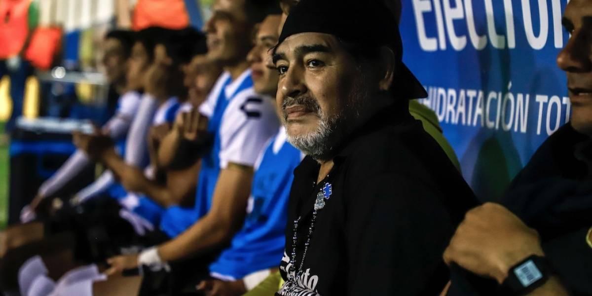 Maradona deja a los Dorados de México por motivos de salud