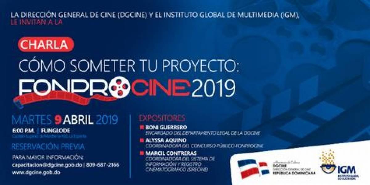 """Impartirán charla """"Cómo someter tu proyecto: Fonprocine 2019"""""""