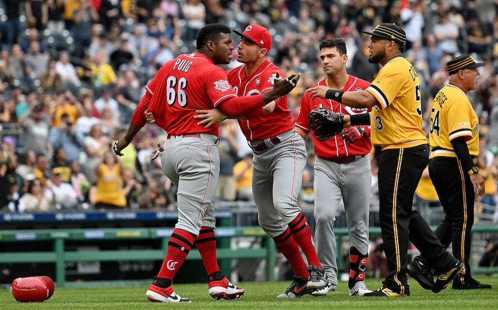 Yasiel Puig estaba muy molesto. / Getty Images
