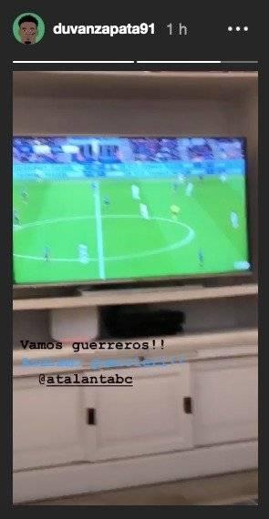 Ausencia de Duván Zapata en Inter de Milán VS Atalanta