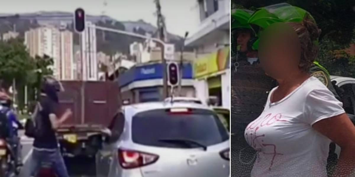 Mujer de 54 años fue capturada mientras cometía un presunto fleteo