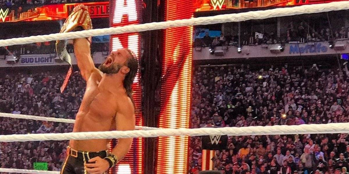 Seth Rollins acaba con Brock Lesnar en Wrestlemania y es nuevo campeón universal