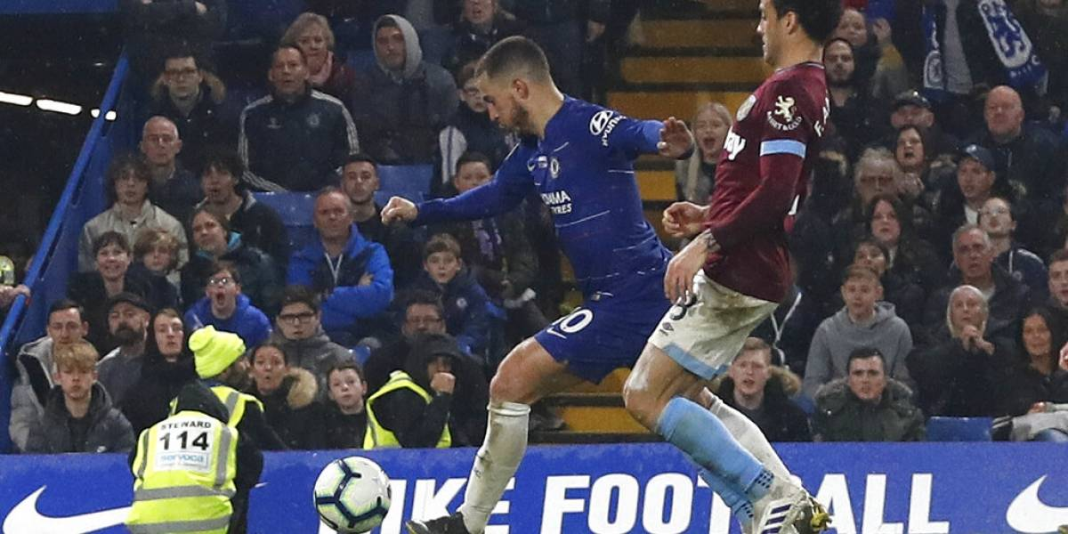 Hazard da a Chelsea victoria sobre West Ham