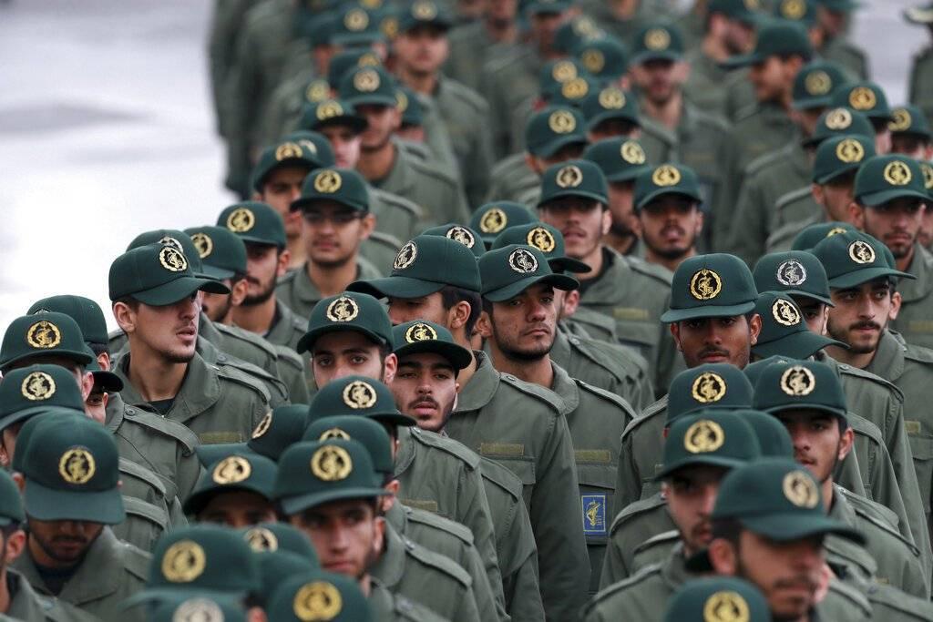 Guardianes de la Revolución de Irán. AP
