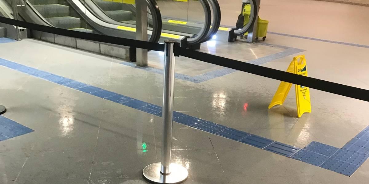 No dia da inauguração, estação Campo Belo sofre com pontos de goteira