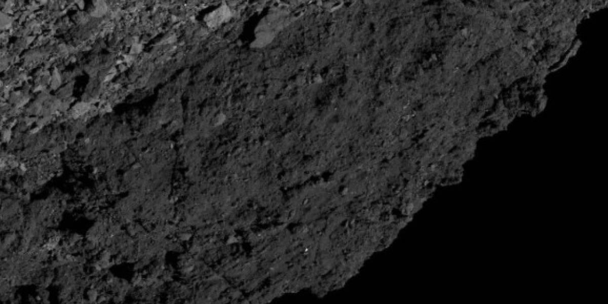 Sonda OSIRIS-REx da NASA registra 'região escura' do asteroide Bennu