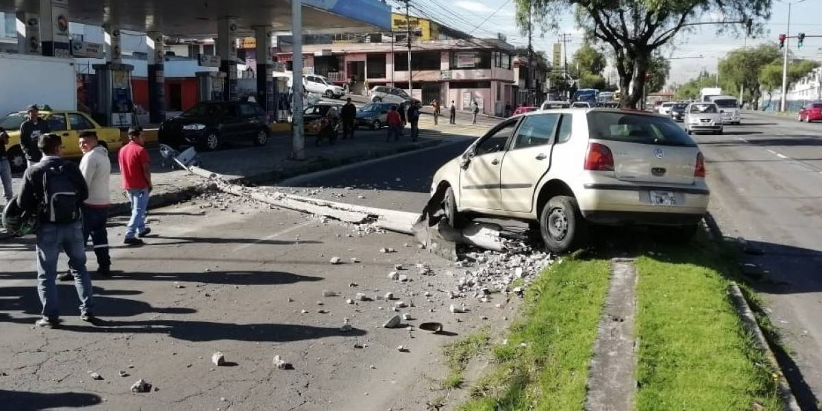 Quito: Cierre en la Avenida Galo Plaza Lasso por accidente de tránsito