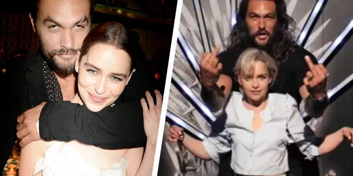 La hermosa amistad que mantienen Emilia Clark y Jason Momoa