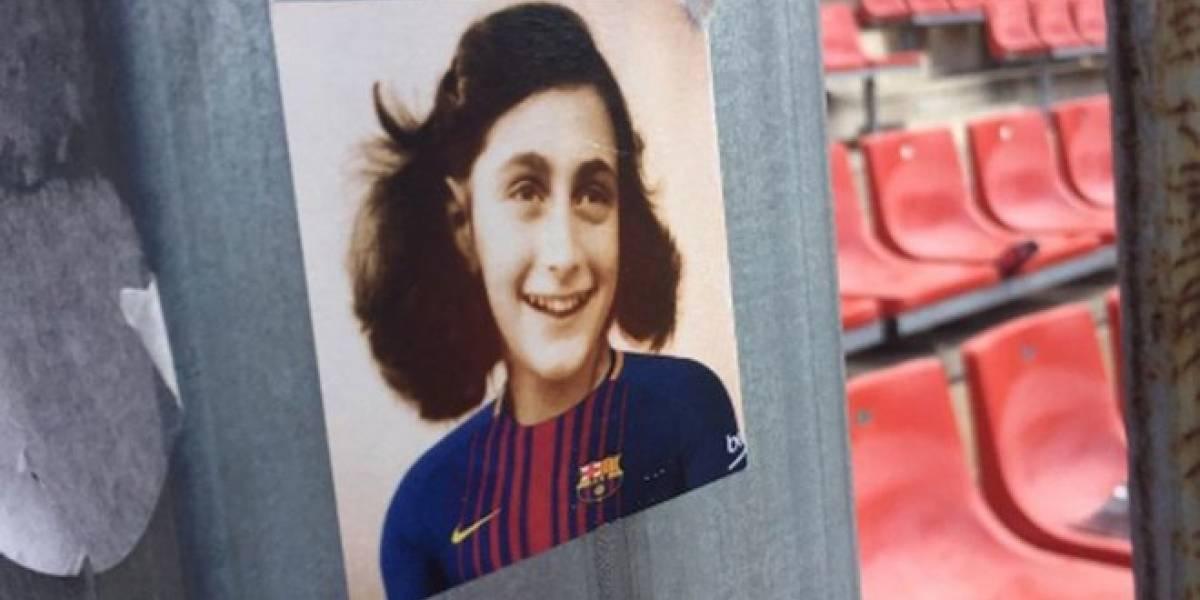 La polémica imagen de Ana Frank con jersey del Barça