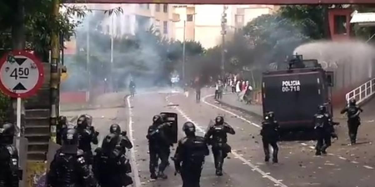 Protesta en la Universidad Distrital cierra la Avenida Circunvalar