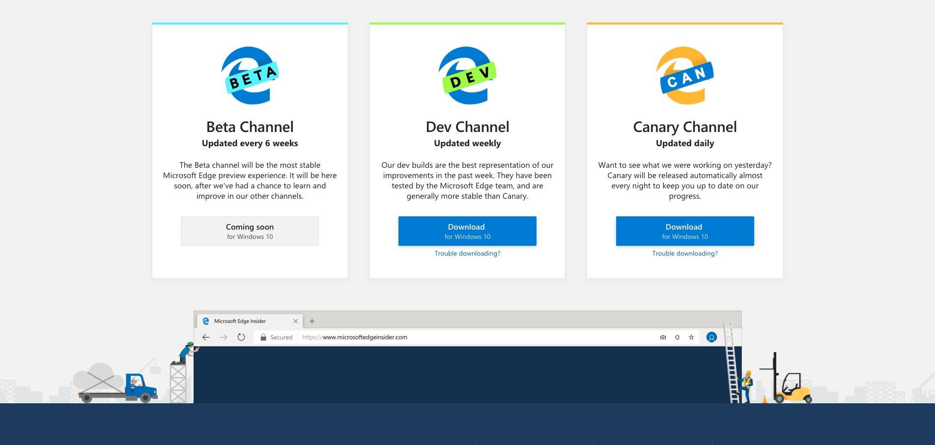 Microsoft lanza las primeras builds de su navegador Edge basadas en Chromium