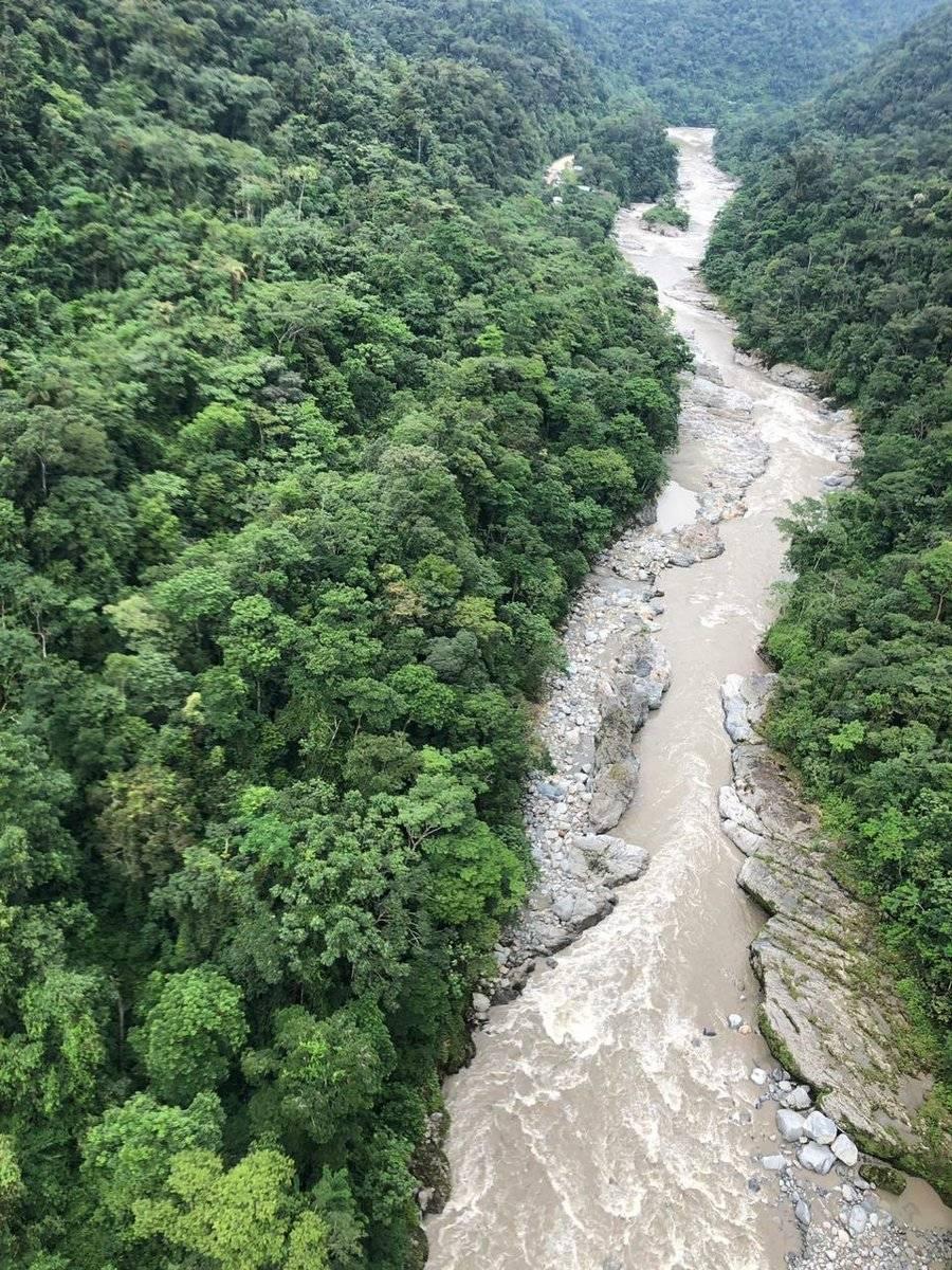 Río Jatunyacu en el sector 'Laguna Azul'