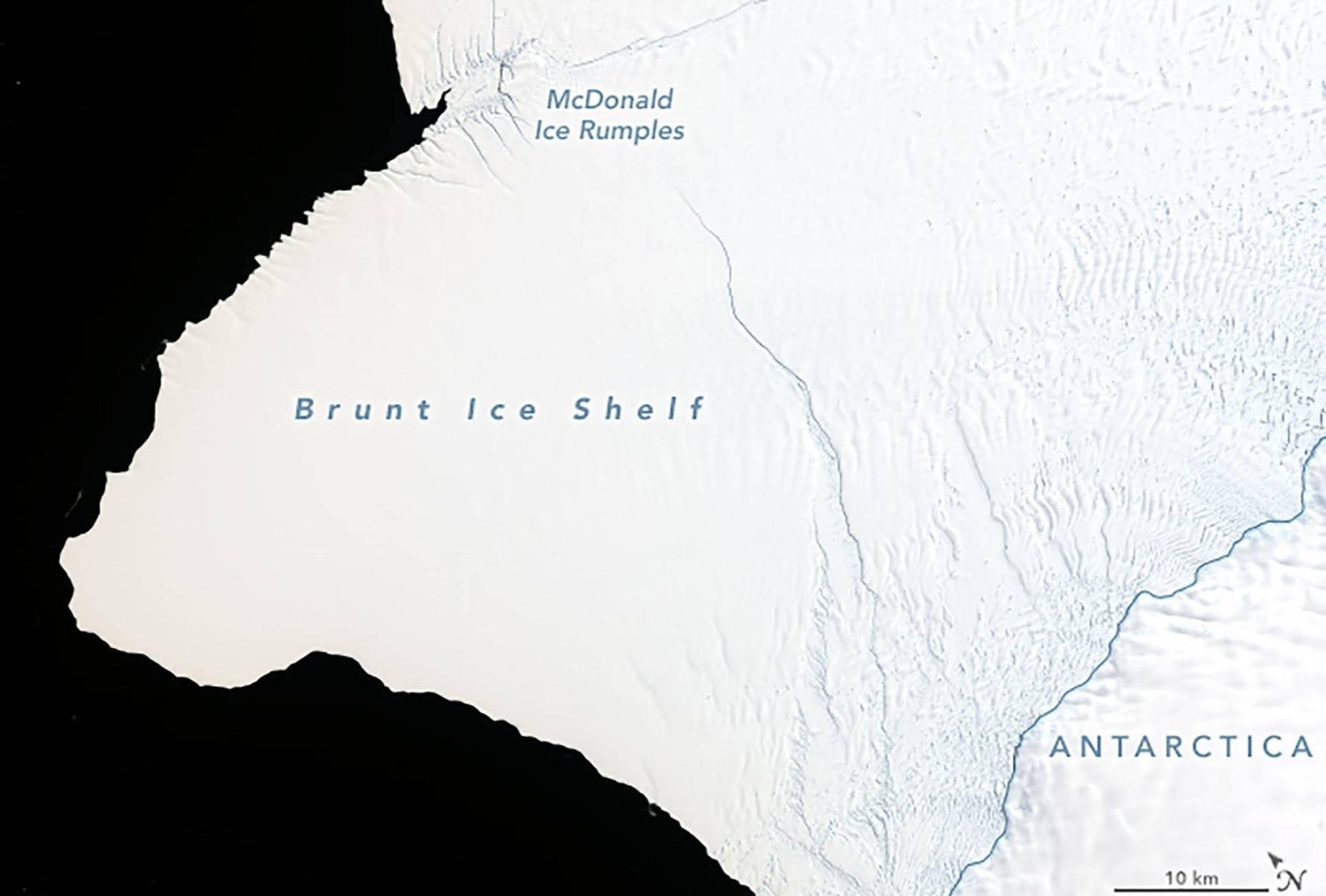 Iceberg equivalente a dos veces Nueva York se desprenderá de la Antártida