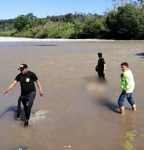 Recuperación del cuerpo de Manuel Tundidor que fue arrastrado por el río Jatunyacu el pasado viernes