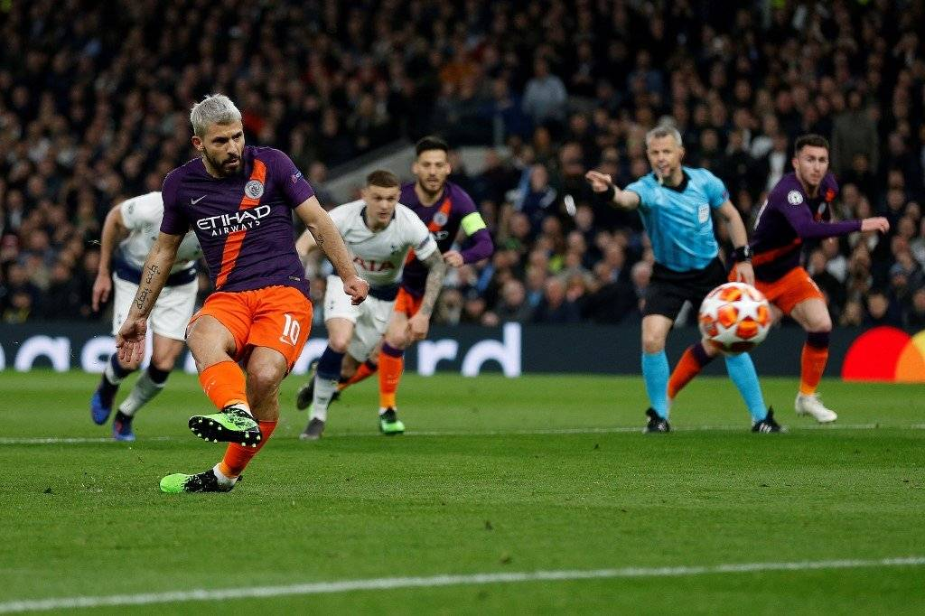 Penal de Sergio Agüero contra el Tottenham