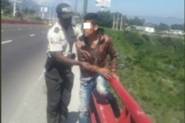 Joven intentó suicidarse del puente del Río Chiche