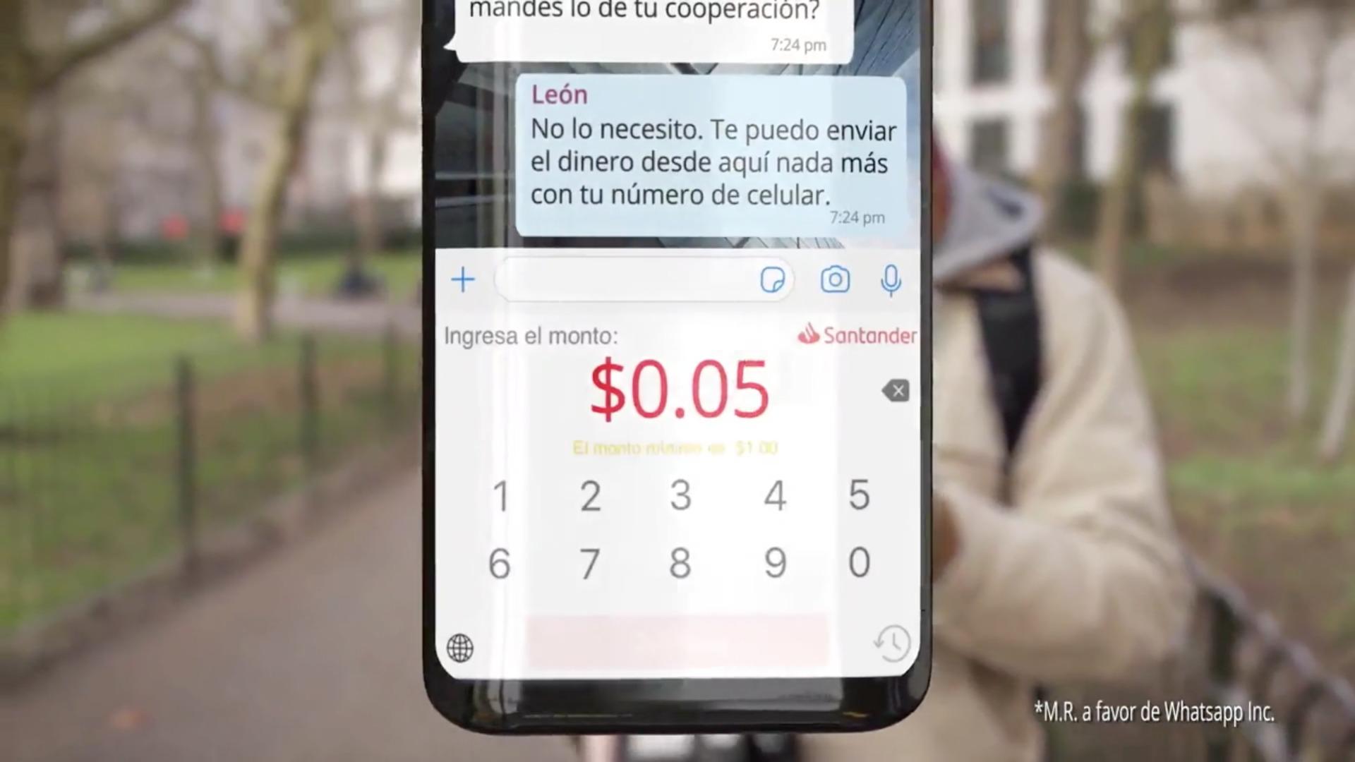 WhatsApp Santander
