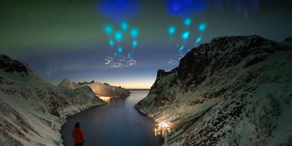 """""""Parecía un ataque alienígena"""": NASA sorprende y revela la verdad detrás de las extrañas luces azules que sobrevolaron el Círculo Polar Ártico"""