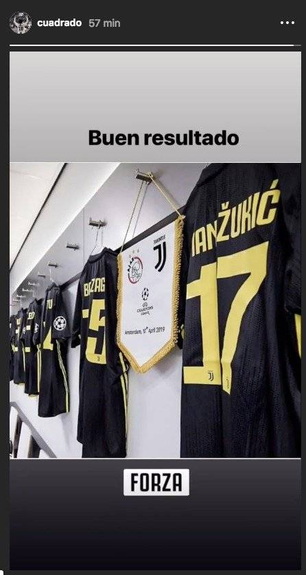 Cuadrado sobre Ajax VS Juventus