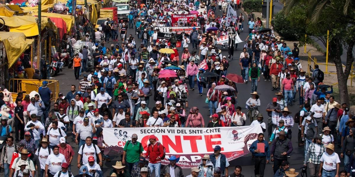 CNTE marcha al Zócalo; hay cierres viales