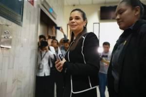 Roxana Baldetti en audiencia del caso La Línea
