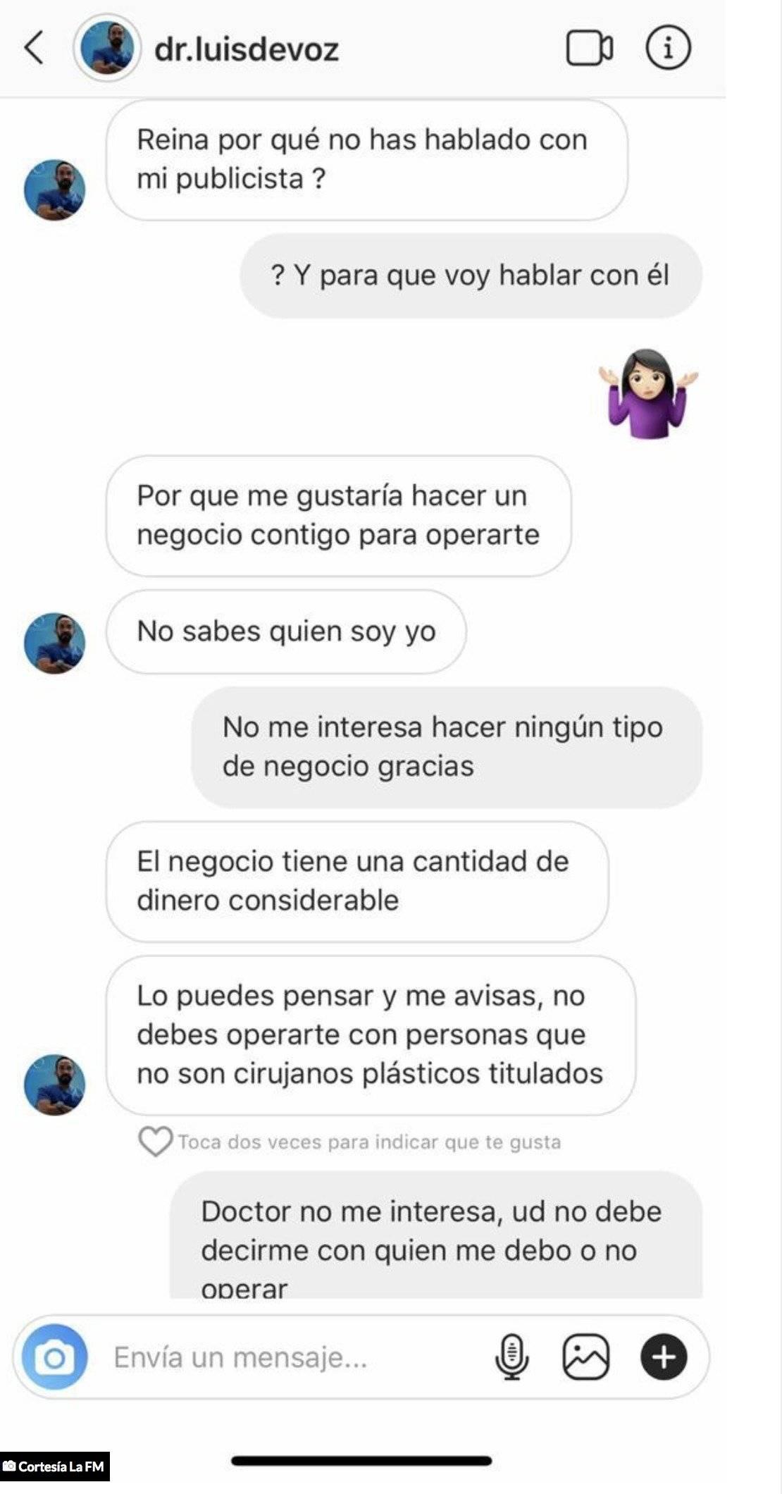 Presunto acoso del cirujano Luis de Voz