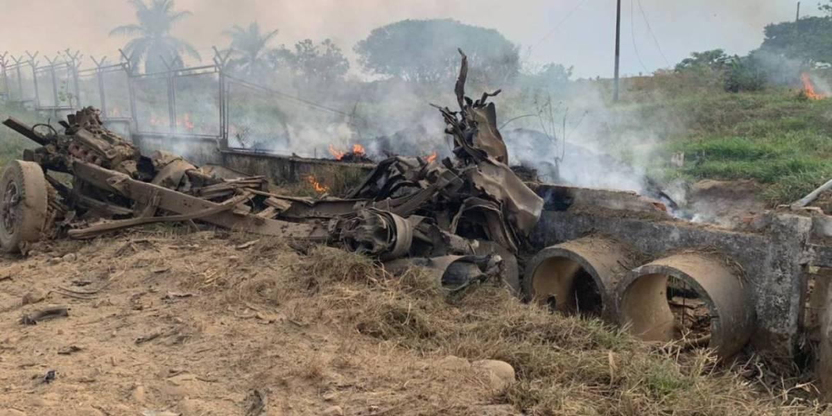 Volqueta bomba estalló en el Batallón del Ejército en Arauca