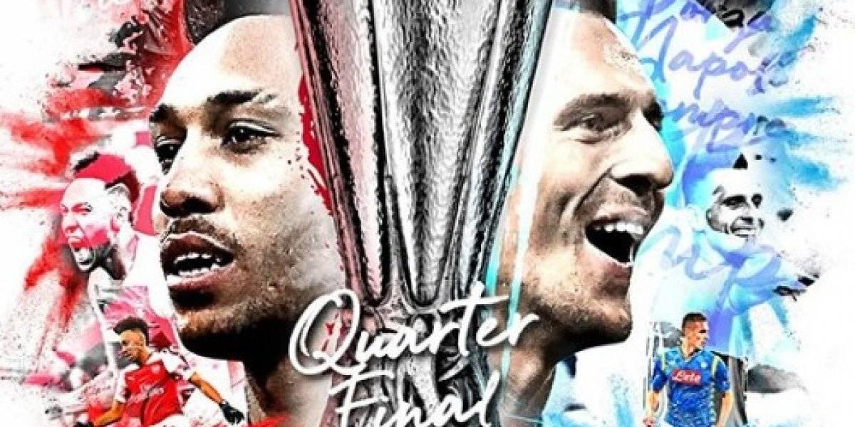Liga Europa: onde assistir ao vivo online o jogo Arsenal x Napoli