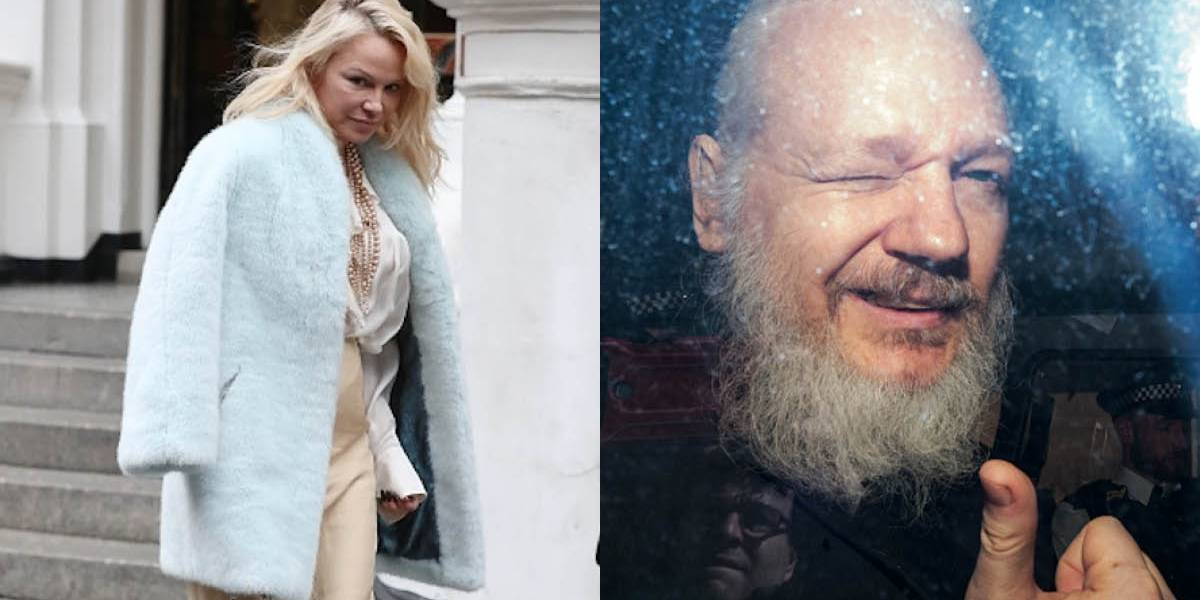 La explosiva reacción de Pamela Anderson tras el arresto de Julian Assange en Londres