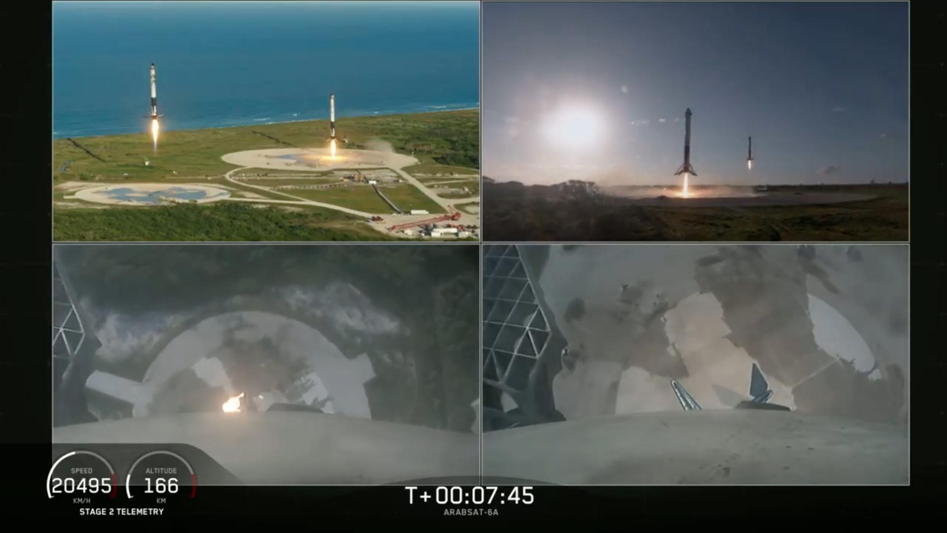 La primera misión comercial del cohete Falcon Heavy de SpaceX fue un éxito