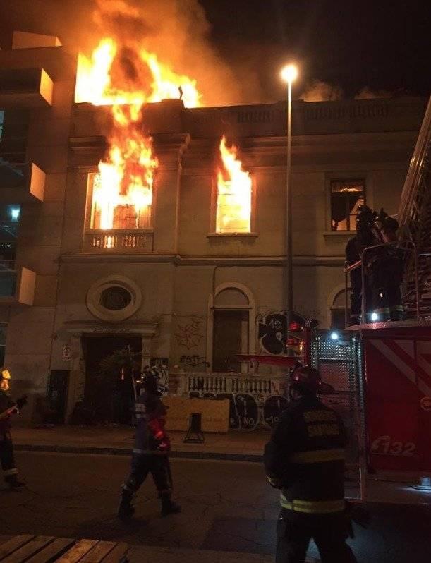 Incendio en Grajales