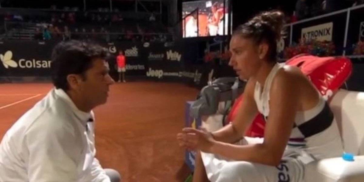 """""""¿Me pongo la faldita y juego yo?"""", el regaño de Germán Puentes a la tenista Sara Sorribes"""